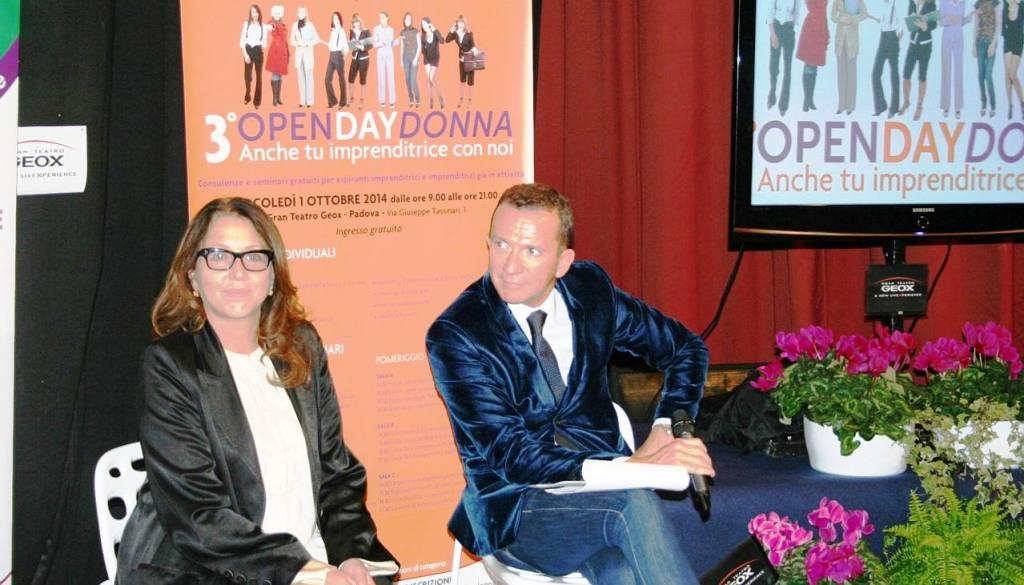 Sabina Ciuffini e Stefano Bergonzini durante l'Open Day Donna(C)Studiobergonzini.com