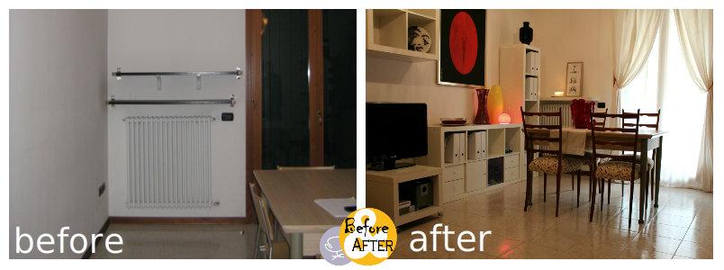 prima e dopo home staging