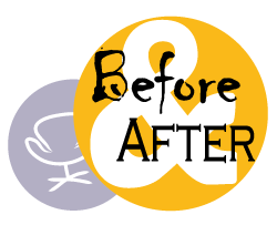 logo before and after home staging padova