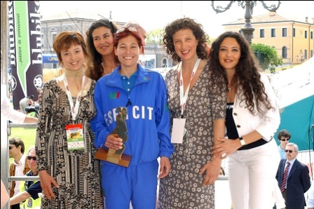 web Sorelle Brogin alla premiazione Maratona S.Antonio - modacleb4 - paco perez abiti per tango
